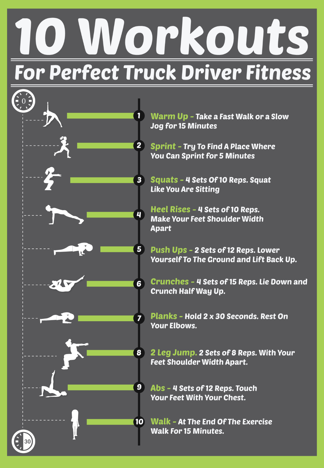 10 Workouts For Perfect HEALTHY DRIVER